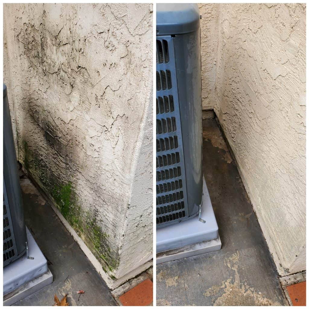 clean stucco after pressure washing