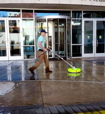 steamworks-pressure-washing-commercial building entry